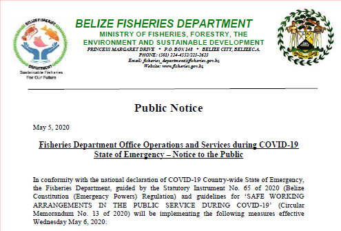 Public Notice:  Office Operations and Services during COVID-19 State of Emergency